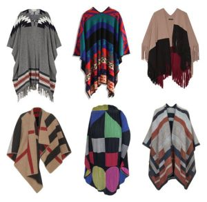 How to wear a poncho, ruana, or cape.