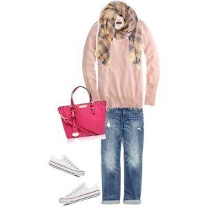 pink plaid scarf