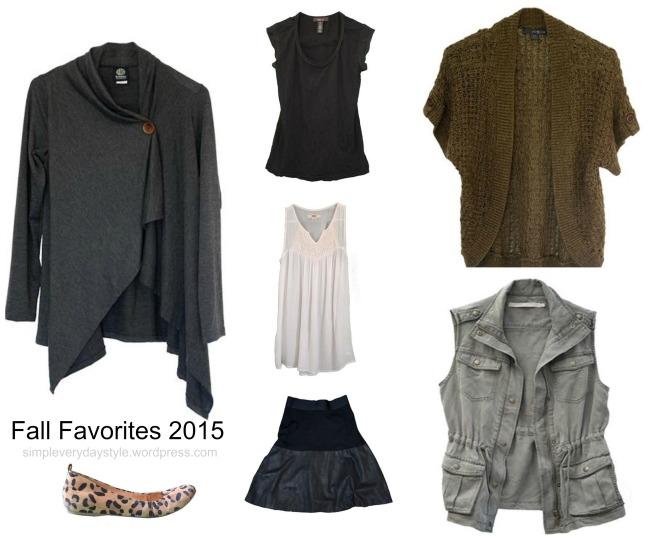 Fall 2015 Capsule Wardrobe Favorites