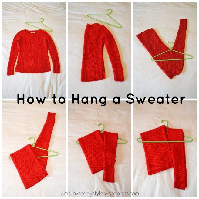 The best way to hang a sweater.