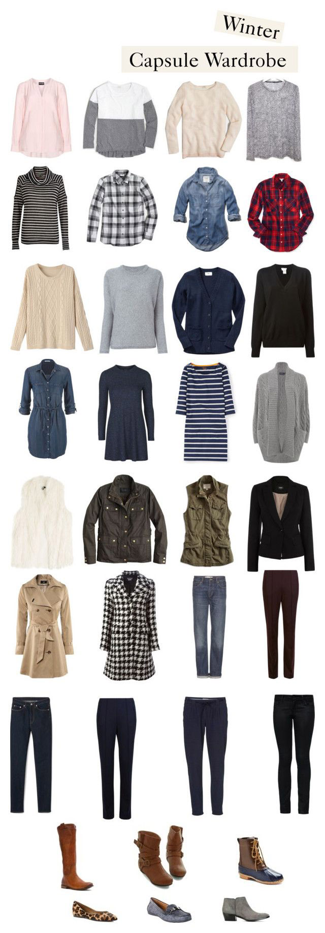 Winter Capsule 2016. mom wardrobe. how create a capsule wardrobe.