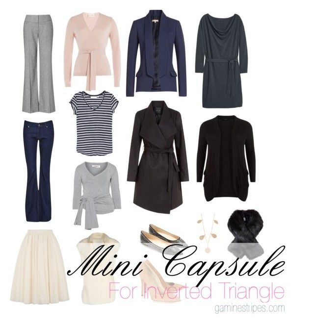 capsule wardrobe basics for inverted triangle shape